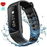 VicTsing Tracker d'activité Cardiofrequencemetre Bracelet Connecté Intelligent IP68 Waterproof Fitness Tracker Podomètre pour iPhone iOS Smartphones Android