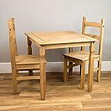 Vida Designs Corona Esstisch mit Zwei Stühlen