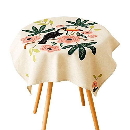 à manger nappe Toile de lin minimaliste moderne Petite table fraîche Maquette de table à café Petite toile de table ronde Table de séjour bureau nappe de bureau (taille facultative) durable