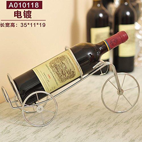 Alle Aluminium-wohnzimmer Tisch (ZJWineracks Kreative Continental modernen minimalistischen Haushalt Wohnzimmer Möbel Produkte Wine Racks, EIN 0101038 Plating-Y)