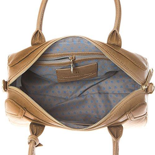 Trussardi Jeans Borsa a Mano Bauletto da Donna con Tracolla in Eco Pelle �?32x21x14 Cm - Mod. 75B702SM Fango