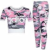 GUBA® Mädchen Collegejacke Trainingsanzug Gr. 11-12 Jahre, Adios Pink Camouflage