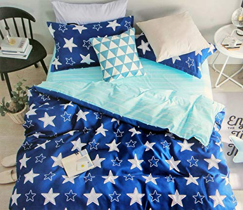 BhaiJi Star AC Comforter Set    Pashmina Silk Smooth Luxurious Fabric    Combo of 1 AC Comforter for Double Bed, 1 Bedsheet for Double Bed, 2 Pillow Covers