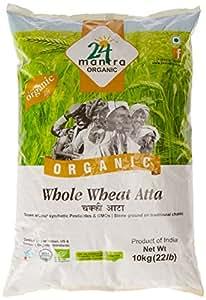 24 Mantra Organic Wholewheat Atta Premium, 10kg