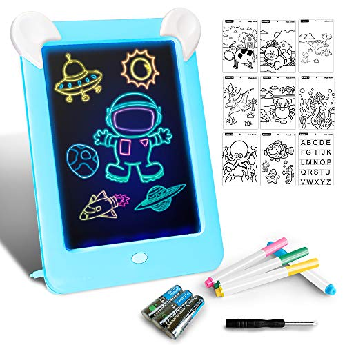 Tableta Dibujo Pizarra 3D Mágico Luces LED Educativo