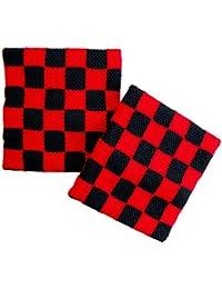 Schweißband Schachmuster Rot