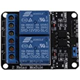 Robodo MO59 2 Channel 12V 10A Relay Control Board Module with Optocoupler for PIC AVR Arm