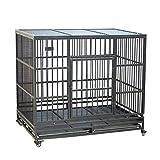 Casetas y cajas para perros Jaula para mascotas jaula para perros jaula para perros plegable jaula para perros perro grande cabello dorado perro mediano Alaska jaula para perros jaula Cajones y fundas