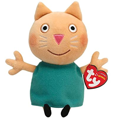Ty peluche - Candy Cat 16.cm - Peppa Pig Serie de Ty
