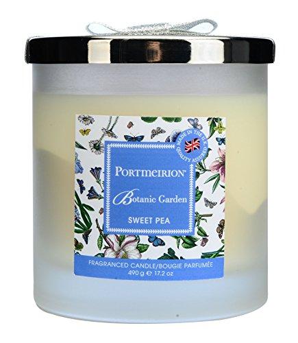 Botanic Garden Sweet PEA 2Docht Wachs gefüllt Glas mit Silber Deckel, Mehrfarbig, 11x 11x 11,5cm China Sweet Pea