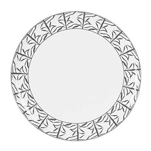 TABLE PASSION - PLAT A TARTE PORCELAINE DECOR MADRAS GRIS