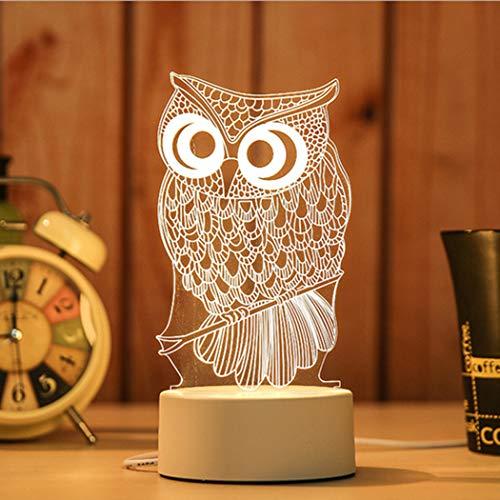 Amiubo 3D Illusion Lampe Nachtlicht neben Tischlampe Schreibtisch Dekoration Lampen Geburtstag Weihnachtsgeschenk mit Acryl Flat & ABS Base & USB Kabel