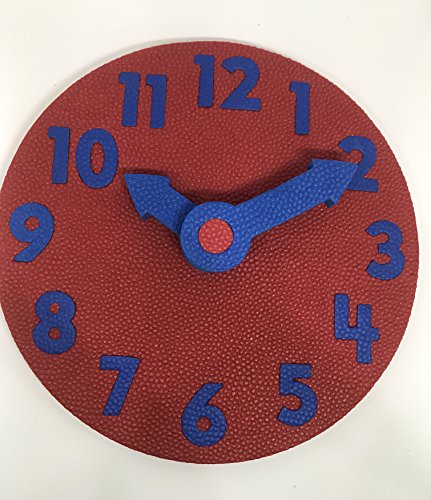 EduToys - Educational Time Learning Big Soft Clock for Kids Children - Size = 7 inches (18 cms) (Red+Blue)