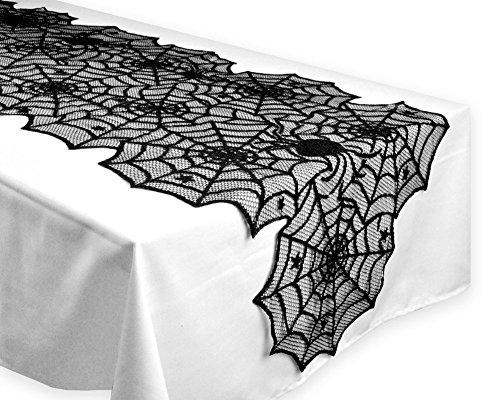 Halloween Tischdecke Tischtuch Spinnennetz Dekorationen Spinnen Netz Abdeckung Gothic Spitze (Halloween Tischdecke)