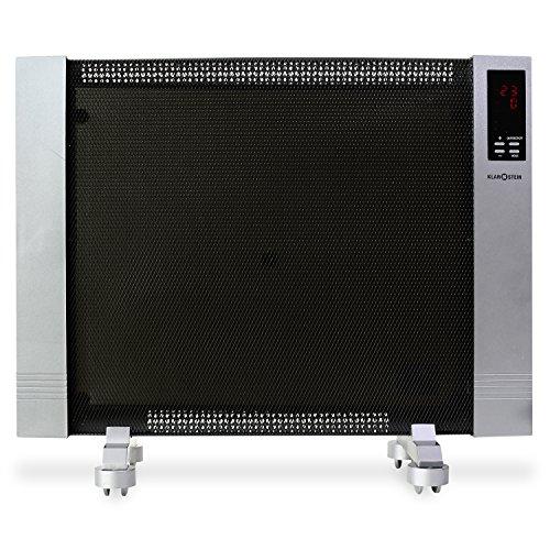 Klarstein Wärmewellen-Heizgerät Heizung Lautlos hohe Effizienz 1500W ( LED-Display, stufenlos regelbar, Raumgröße bis 50 m³, Thermostat) vollmobil HT003MC - 2