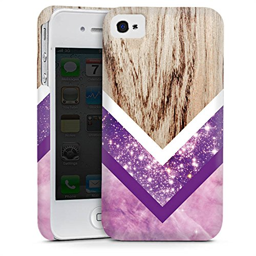Apple iPhone 6 Housse Étui Silicone Coque Protection Look bois Paillettes Motif hipster Cas Premium mat
