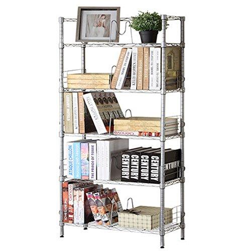 Beyonda FMCWJ1229semplice metallo in acciaio al carbonio 5strati Storage rack (Bookshelf Stand)