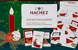 Hachez Adventskalender Feine Vollmilch-Täfelchen, 1er Pack (1 x 180 g)