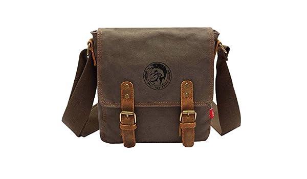 8911524218 jeansian Fashion Homme Sacoche Besace Loisirs Sacs Men's Womens Unisex  Canvas Messager Hang Bag BG038 ArmyGreen: Amazon.fr: Vêtements et  accessoires