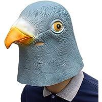 XIAOMAN Maschera testa di piccione realistica maschera viso in lattice  Halloween costume cosplay festa di Natale c3d08b931847
