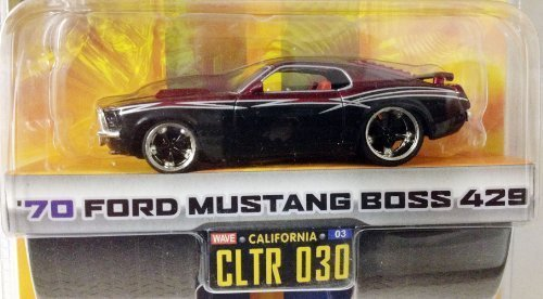 DUB CITY BIG TIME MUSCLE / '70 FORD MUSTANG BOSS 429 / Black & Burgundy (70 Boss 429 Mustang)