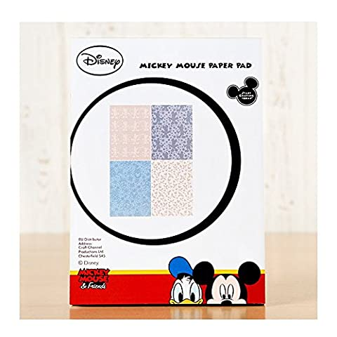 New Officially Licensed Disney Vintage Mickey Mouse Backing Paper Pad for Papercraft Projects