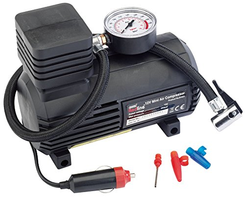Draper 81023 12V Mini Analogue Air Compressor (250Psi Max.) (Dinghy-hosen)