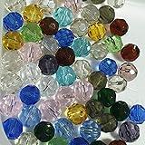 Glasperlen, 50Stück, 10mm, facettiert-gemischt-A3867