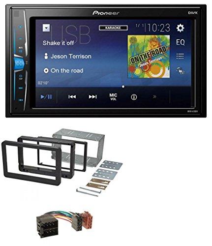 caraudio24 Pioneer MVH-A100V 2DIN MP3 USB Aux Autoradio für Alfa Romeo 159 Spider Brera ab 05 Navi (Doppel-passe Hinten)