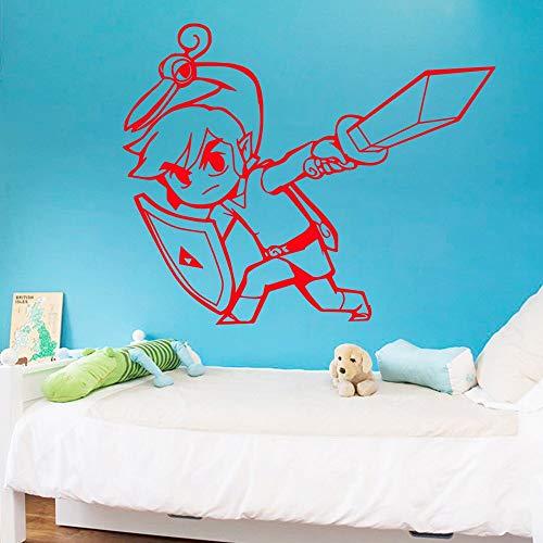 zqyjhkou Adesivo da Parete per Cartoni Animati Vinile murale Soggiorno Decorazioni per la Camera dei Bambini Decalcomania Creativa Sti55.9X44.2CM
