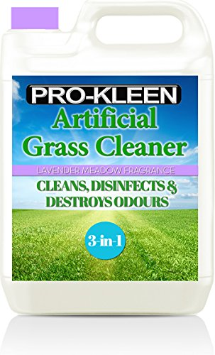 Pro-Kleen Artificial Grass Cleaner – Perfect for Homes with Dogs – Cleans and Deodorises Astro Turf, Leaves a Lavender Fragrance – 5 Litre Super Concentrate: Makes 15 Litres