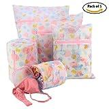 #4: HOKIPO® Mesh Laundry Clothes Washing Bag, Pack of 5