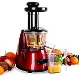 Klarstein Fruitpresso Bella Rossa • Entsafter • vertikale Saftpresse • Edelstahl-Mikrosieb •...