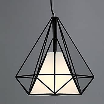 baycheer lustre abat jour suspensions luminaires plafonniers 38cm lampe industriel e27 retro c. Black Bedroom Furniture Sets. Home Design Ideas