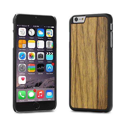 Cover-Up WoodBack bois noir mat pour iPhone 6 / 6s Plus - Frêne Noir - Black Limba