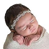 sunnymi Stirnband Baby Mädchen Viele Die Essenz Stil  Stirnbänder Festlich Taufe Fotoshootings (Perle, 2 Monate bis 5 Jahre)