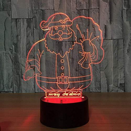Kreative Illusion Nette Santa Claus 7 Farbe Lampe 3D Visuelle Led Nachtlichter Für Kinder Touch Usb Tischlampe Baby Schlafen Nachtlicht Geschenk -