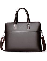 YongBe Uomo Business Bag Borse di Cuoio Reali per Gli Uomini Vintage  Classic 14 inch Laptop abcbb58ecfc