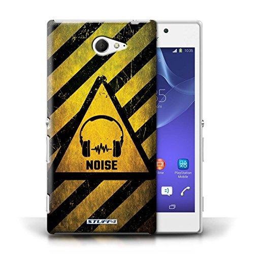 Coque de Stuff4 / Coque pour Sony Xperia M2 / Biohazard Design / Signes de Danger Collection Bruit/Musique