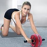 K-Y AB Roller Bauchtrainer Doppel-Bauchroller Sport/Rad- und Kniepolster mit Softgriff für Core Fitness Übungen für die Bauchmuskulatur. Bauchtrainer