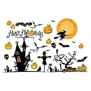 Amosfun feliz halloween pegatinas de