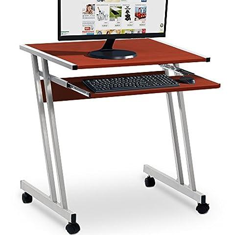 Computertisch in Weiß mit Aluoptik Farbauswahl Computerwagen Computertisch Bürotisch Schreibtisch