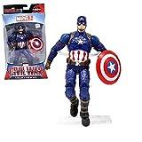 Facai9-DC Marvel Avengers - Captain America - Figurine articulée - Jouets Mobiles - Avengers - 3/4 Guerre Jouets - 6 Pouces - Adapté aux Enfants à partir de 3 Ans