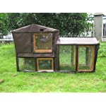 BUNNY BUSINESS The Grove Spearmint Double Decker Rabbit/ Guinea Pig Hutch and Run, and Cover 8
