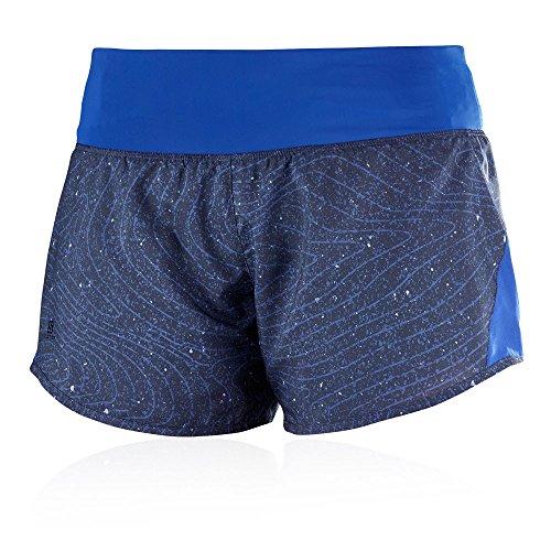 Salomon Elevate Damen Short, 2in1Short W Blue