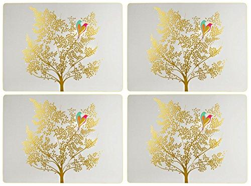 Sara Miller pour Portmeirion Chelsea Set de Table, céramique, Multicolore, 31 x 40 x 2.4 cm
