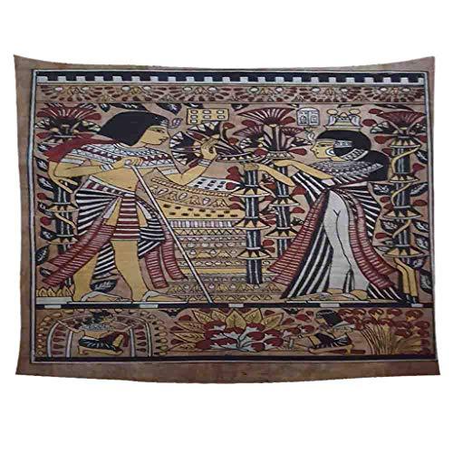 Xmiral Tapisserie Wandbild Uralt Ägypten Stil Hängen Tapestries Wandbehang Gobelin 150X200cm(BH)
