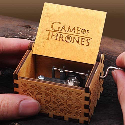 IANSISI Caja Musica Niña Manivela De Madera Tallada Queen Music Box Game of Thrones Star War Christmas Birthday Game of Thrones