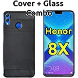Huawei Honor 8X Back Cover Case & Tempered Glass Combo By Popio®