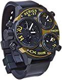 Welder K37-6501 Men's Quartz Watch with Black Dial Chronograph Display and Black Rubber Strap